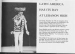 Denny Magdule as the Mexican Announcer during the 'Latin America Has It's Day' during our Junior Year